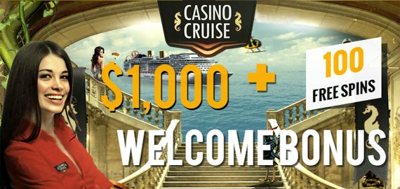 Welcome Bonus $1,000 + 100 Free Spins from Casino Cruise