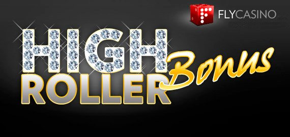 High Roller Bonus 100% up to $/€/£500 from Fly Casino