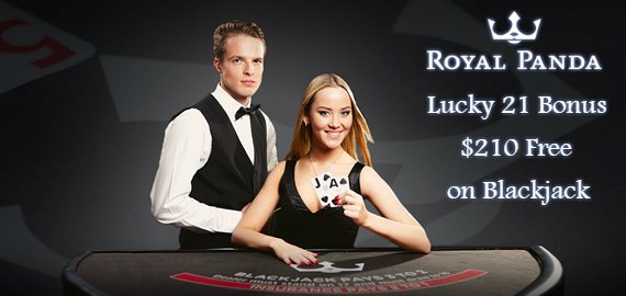 $210 Every 21st of the Month Blackjack Bonus from Royal Panda Casino