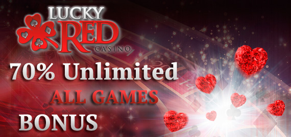 70% Unlimited Match Bonus from Lucky Red Casino