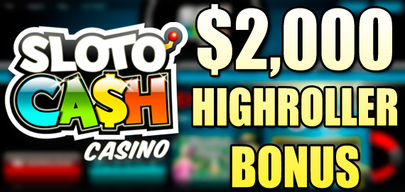 400% up to $2,000 Welcome Bonus from Sloto'Cash Casino