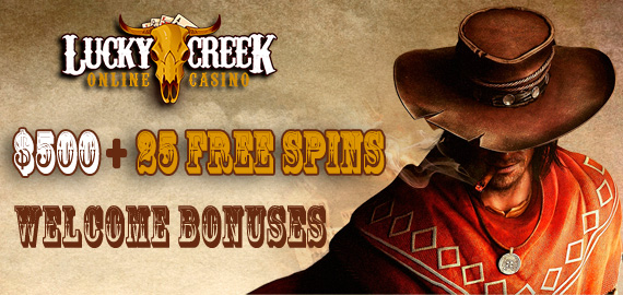 500 25 Free Spins Welcome Bonus From Lucky Creek Casino