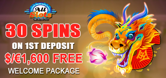 30 Free Spins on Dragon Dance and $/€1,600 Free Welcome Pack from All Slots Casino