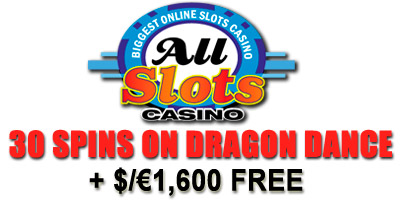 30 Free Spins and $/€1,600 Welcome Package from All Slots Casino