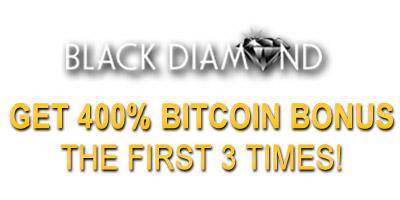 400% Unlimited Bitcoin Welcome Bonus from BlackDiamondCasino