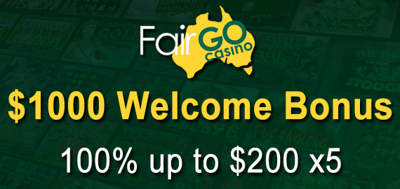 100% up to $1,000 X5 from Fair Go Casino