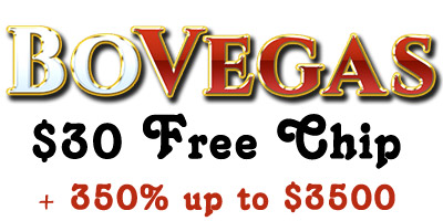 $30 Free Chip + 350% up to $3,500 Welcome Bonus from BoVegas Casino
