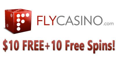 $10 Free + 10 Free Spins No Deposit Bonus from Fly Casino