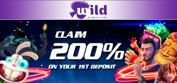 200% up to €/$250 + 99 Free Spins Deposit Bonus from Wild Jackpots Casino