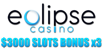 300% Welcome Bonus for Slots from Eclipse Casino