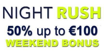 €100 Weekend Reload Bonus from NightRush Casino
