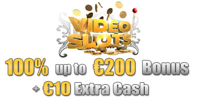 €200 Welcome Bonus + €10 Free from Videoslots Casino
