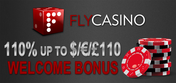 110% up to $/€/£110 Welcome Bonus from Fly Casino