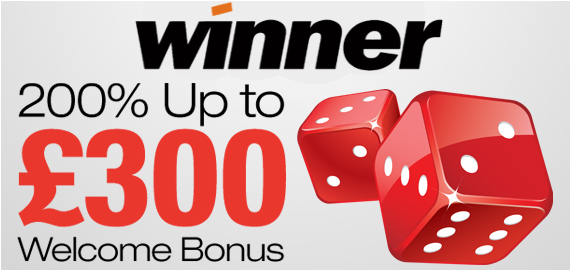 200% up to £300 Live Casino Welcome Bonus from Winner Casino