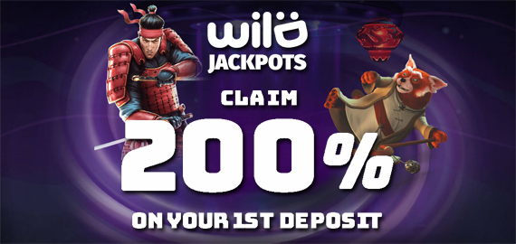 200% First Deposit Bonus from Wild Jackpots Casino
