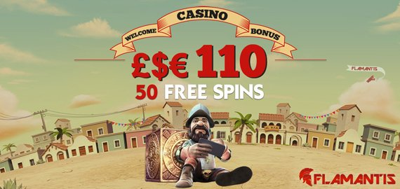 Welcome Match and Free Spins Bonus from Flamantis