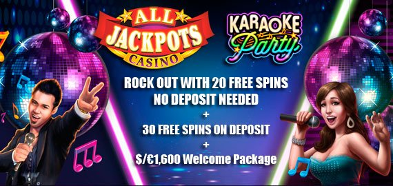 all jackpots casino exclusive bonus rock out