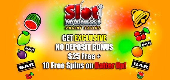 Slot Madness Casino No Deposit Bonus Codes