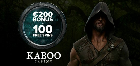 100% Match up to €200 + 100 Free Spins Welcome Bonus from Kaboo Casino
