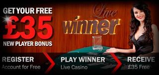 winner live casino welcome bonus