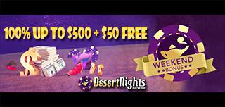 desert nights casino weekend bonus offer