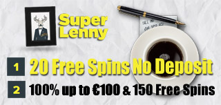 super lenny casino welcome pack and special free spins offer