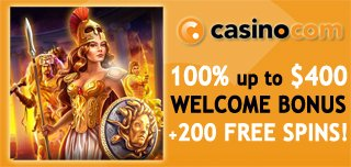 casino com welcome match and free spins bonuses