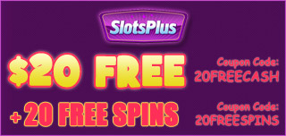 slots plus casino 20 free and 20 free spins no deposit
