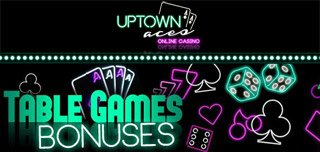 uptown aces casino table games bonus welcome