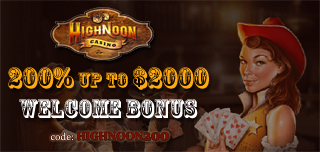 high noon casino welcome bonus for slot games