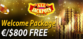 all jackpots casino exclusive welcome bonus