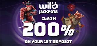 wild jackpots casino first deposit bonus